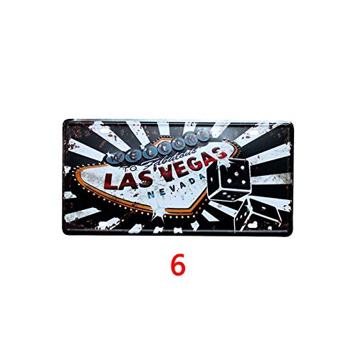 - Novelty Funny Sign Welcome to Las Vegas Vintage Retro Metal Tin Sign Wall Sign Plaque Poster for Home Bathroom Road Cafe Bar Pub,Wall Decor Car License Plate Souvenir 3-21