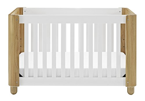Cheap Storkcraft Roland 3-in-1 Convertible Crib, White/Natural Easily Converts to Toddler Bed & Day Bed, 3-Position Adjustable Height Mattress