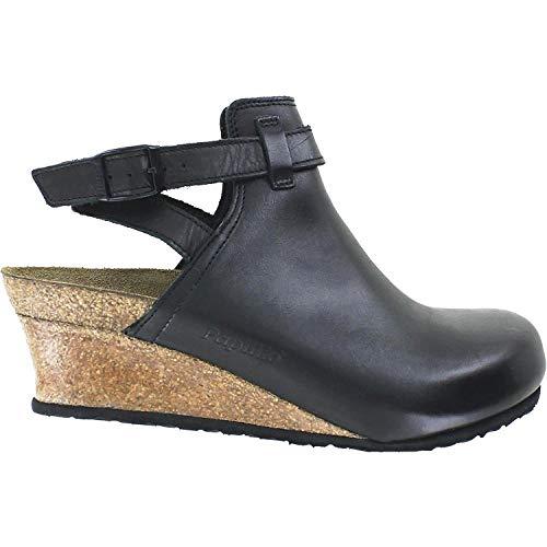 Birkenstock Women's Esra Black Leather Clog 38