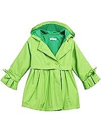 Arshiner Little Kids Girls Hooded Waterproof Raincoat Outwear Jacket