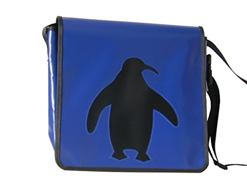 Schultertasche Tiermotiv Pinguin Schwarz H 30, B 32, T 11