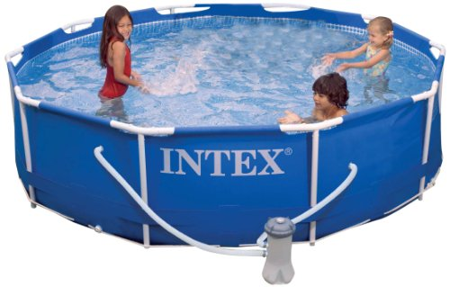 Intex Above Ground Pools - Intex Metal Frame Pool Set, 10-Feet x 30-Inch