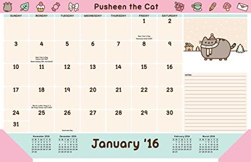 Pusheen The Cat 2015 2016 16 Month Desk Pad Calendar September 2015 Through December 2016