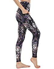 FLYILY Women's Yoga Pants with Pockets High Waist Tummy Control Workout Running Sport Leggings for Women Slim Fit Fitness GYM Trousers