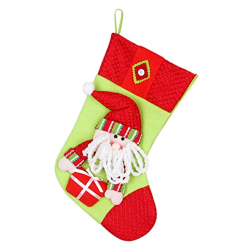 AIMTOPPY Snowman Santa Claus Christmas Candy Gift Bag Small Legs Socks Children 's Gift Bags (Red) (Snowman Make Up)