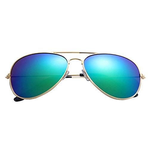 AMOFINY Fashion Glasses Hot Men and women Classic Metal Designer Sunglasses New