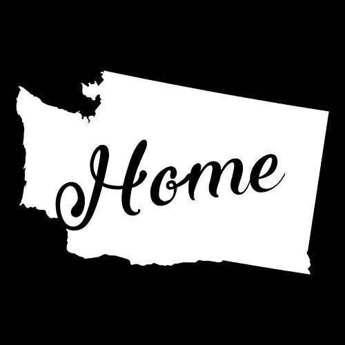 Washington Home State Vinyl Decal Sticker | Cars Trucks Vans Walls Windows Laptops Cups | White | 5.5 X 3.5 | KCD1959 - Washington Market