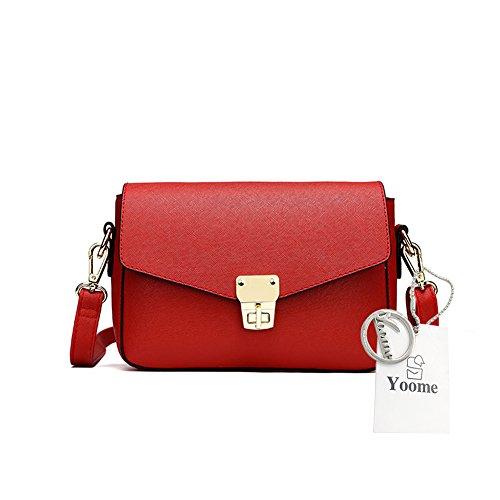Yoome Elegante Retro Flap Bolsa De Cruz Patrón Mini Bolso De Hombro Para Las Mujeres Bolso De Envelope Pequeño - Rojo rojo