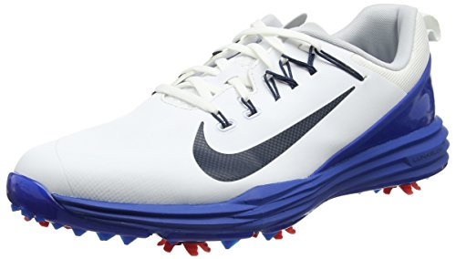 Nike Mens Lunar Command 2 Golf Shoes (12 D(M) US, White/Armory Navy-Blue Jay/Solar ()