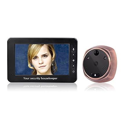 mountainone 4,3 pulgadas TFT digital de pantalla LCD de comunicación de mirilla para puerta