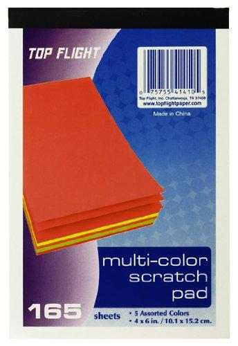 amazon com top flight scratch pads 4 x 6 inches multi colored