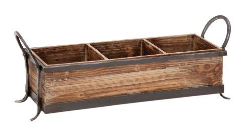 Deco 79 54419 Wood Metal Tray 22