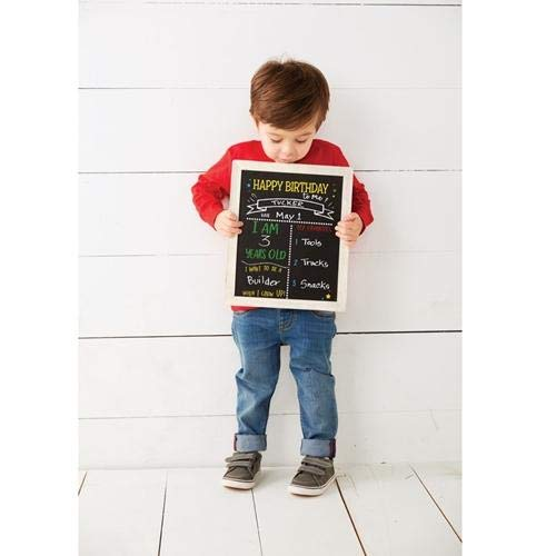 Mud Pie Double Sided Birthday/Back to School Chalkboard, One Size ()