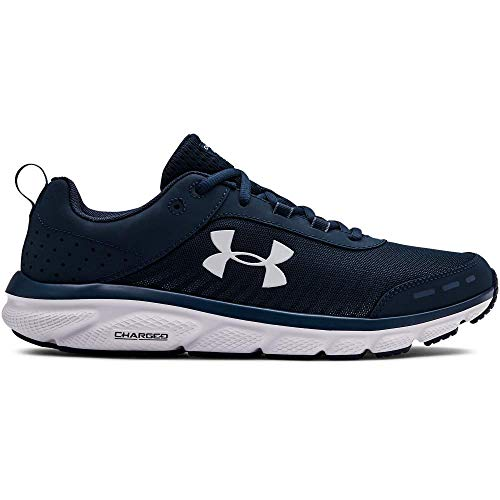 Under Armour Men's Charged Assert 8 Running Shoe, Academy (401)/White, 9