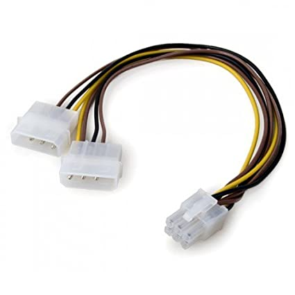 amazon com: link depot 4-pin to 6-pin pci express power adapter (8 inches):  computers & accessories