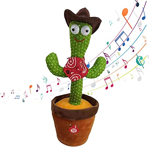 Dancing Cactus-Cactus Plush Toys, Electronic Cute Singing Plush Dancing Cactus Toy Children's Early Education Toys with 120 English SongsDancing Cactus Plush Toy (B)