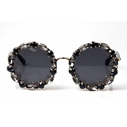Redondo Mujer Hombre Sol Vintage Tonalidades Strass Uv400 Gafas Y Gafas TIANLIANG04 De Mujer De Con Sol xIIzAS