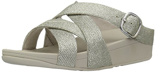 Flop Flip Cross Pale Sparkle Criss Fitflop Slide Women's Gold Skinny The cqWRAZ8