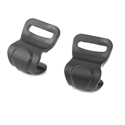 SGerste 10pcs Camping Awning Tent Plastic C Clips for 10mm-13mm Poles Black