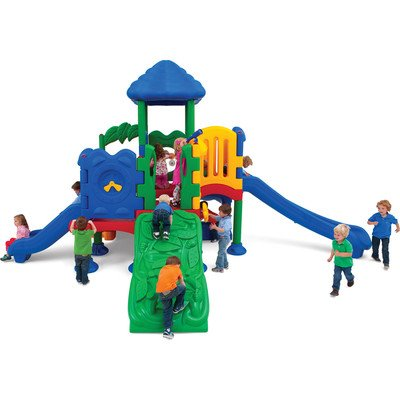 Discovery Center 5 Deck Play Structure with Roof by ultraPLAY
