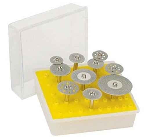 Rotary Tools Diamond Saw Cut-Off Discs Wheel Blades 10pc Rotary Tool Set 1/8 Shank for Dremel