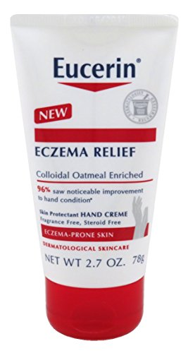 Eucerin Creme Eczema Relief Hand 2.7 Ounce Tube (80ml) (2 Pack)