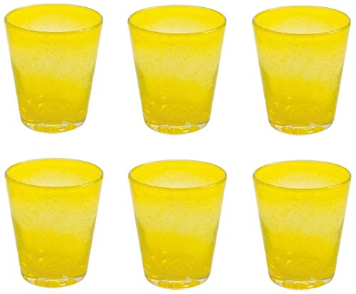 Villa d 'Este Home Tivoli Cancun Set Glass 6 Pieces Yellow