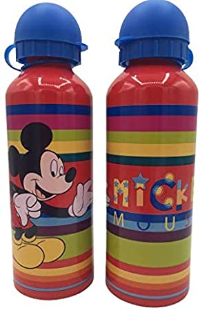ML Botella de Agua de Aluminio, cantimplora térmica a Prueba de Fugas sin BPA para Levar a la Escuela y Deportes el Termo 500ml para niños y niñas (Rojo)