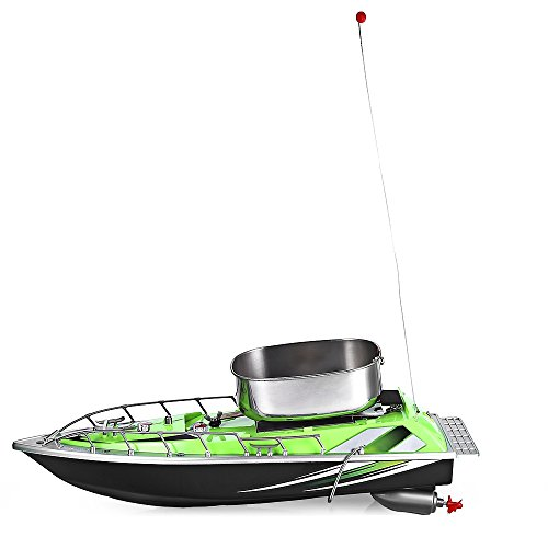 Barco de anidación de control remoto poner el anzuelo barco de pesca a prueba de agua barco de cebo barco nido verde
