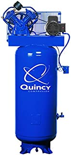 product image for Quincy QT-54 Splash Lubricated Reciprocating Air Compressor - 5 HP, 230 Volt, 1 Phase, 60-Gallon Vertical, Model Number 2V41C60VC