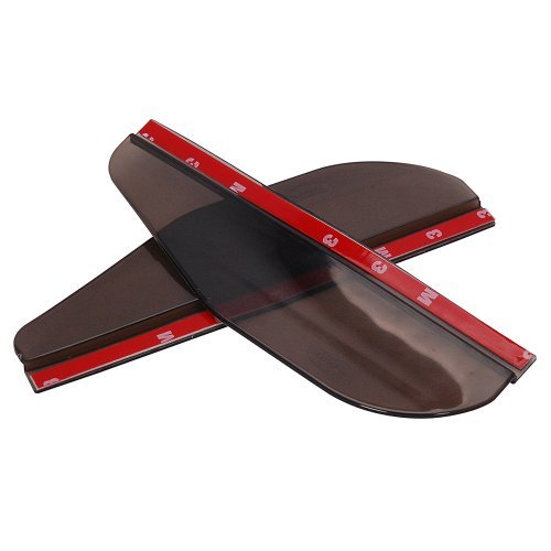 2x Flexible PVC Plastic Rear View Side Mirror Sun Visor Shade Rain Shield Board Universal For Auto Car Truck SUV Choose Color (Smoke)