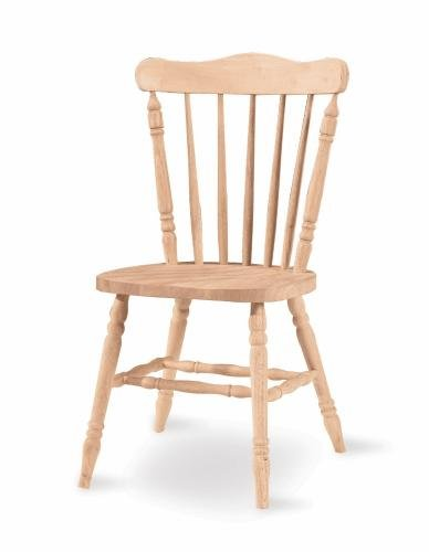International Concepts 1C-585 Country Cottage Chair, Unfinished