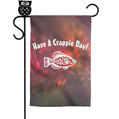 BoDu Have A Crappie Day Garden Flag Yard Home Flag 18 x 12.5 -