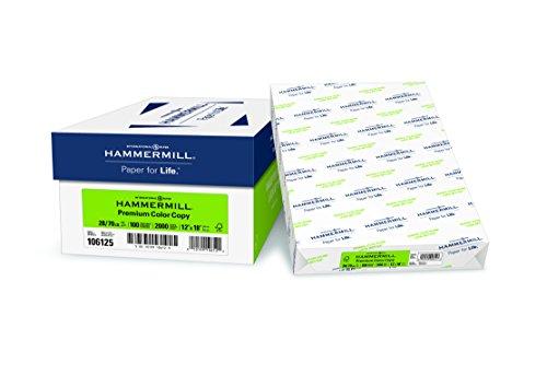 Hammermill Paper, Premium Color Copy Paper, 12 x 18 Paper, 28lb Paper, 100 Bright, 4 Reams / 2,000 Sheets (106125C) Acid Free Paper