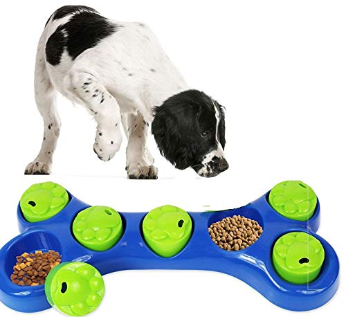 SmartChoice Dog Feeding Game Food Hidding Game Interactive Dog Bowl Dog Toy Helps Reduce Dog Weight 1
