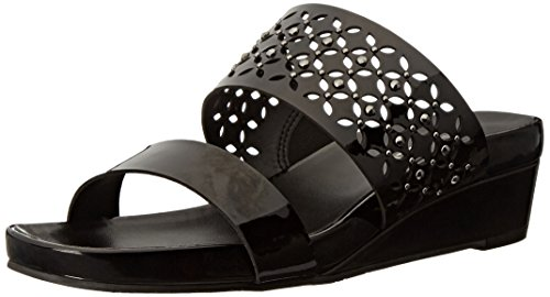 VANELi Women's Kirima 045291 Wedge Sandal - Black Mag Pat...