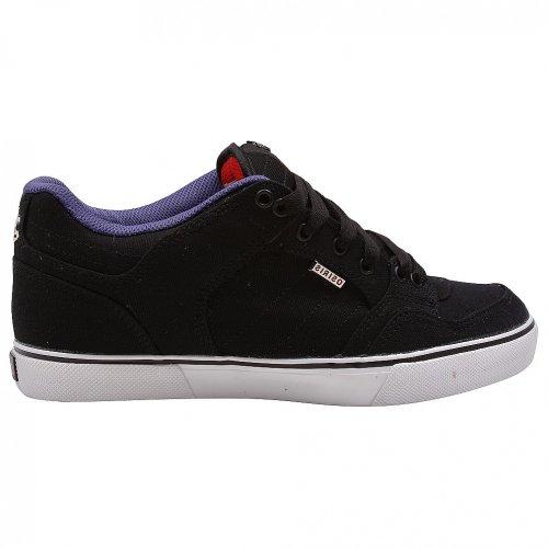 Osiris Men's Shuriken Low Skate Shoe,Black/Purple/Red,10 M US