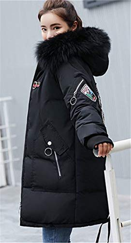 Giubbino Più Parka Outerwear Cappuccio Con Nero1 Lungo Giacca Imbottito Invernali Cerniera Cappotto Velluto Pelliccia Donna Hqw4vvP0
