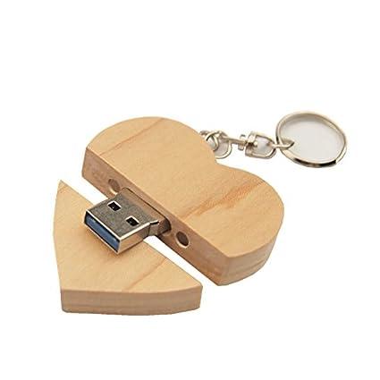 FeliSun Customized Holz Herz USB3.0 Flash Drive Pendrive 64 GB 32 GB 16 GB High Speed U Festplatte Memory Stick Externe Speic