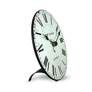 Roger Lascelles Reloj, Madera, Off White, 15 x 4 x 15 cm 2