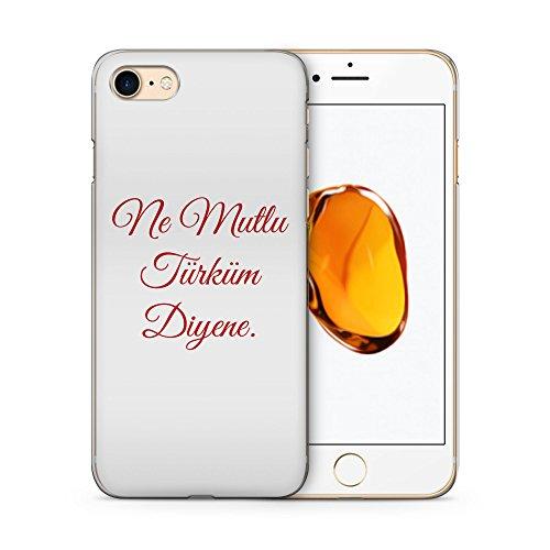Ne Mutlu Türküm Diyene Rot - Hülle für iPhone 7 SLIM Handyhülle Case Cover Schutzhülle - Türkische Sprüche Türkce Sözler Ask Türkei Türkiye Turkey Turkish