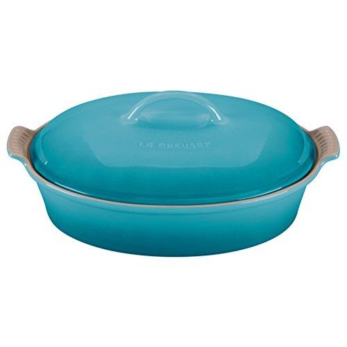 Stoneware 4 Qt. Oval Casserole Color: Caribbean