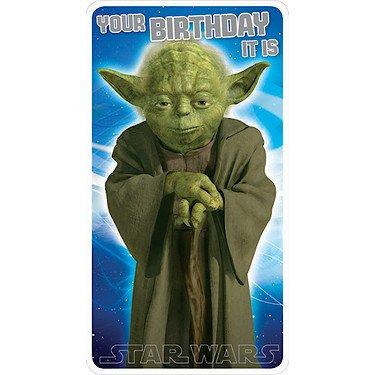 Amazon Com Star Wars Yoda Birthday Card Office Products