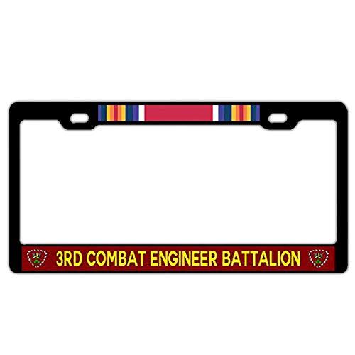 Hopes's Black License Plate Frame Women/Men, Aluminum Metal Custom License Plate Frame, Auto Car US Standard - 3rd Combat Engineer Battalion WW2 ()