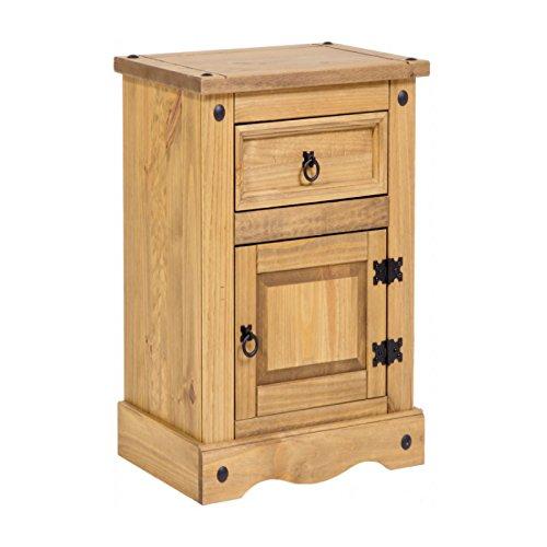 Mercers Furniture Corona Schmal 1 Tür 1 Schublade Nachttisch, Holz, Antique Wax, 35 x 33 x 58 cm