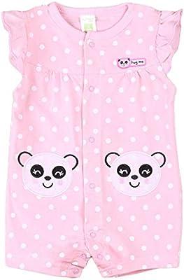 Bebé Mono Manga Corta Mameluco Verano Niñas Pelele Pijama de ...