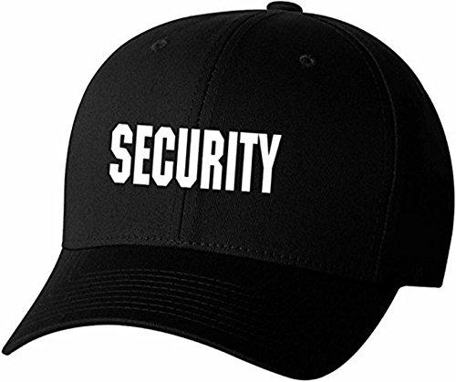 Security Front & Back Black Flexfit Cap (L/XL)