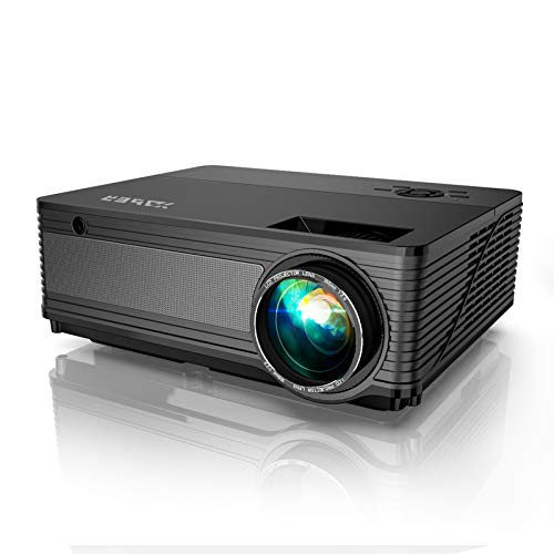 YABER Y21 Native 1920 x 1080P Projector 7800L Upgrad Full HD Video Projector, Support 4k & Zoom, Home & Outdoor Projector Compatible w/TV Stick,HDMI,VGA,USB, iPhone,Android,Laptop,PS4,Xbox