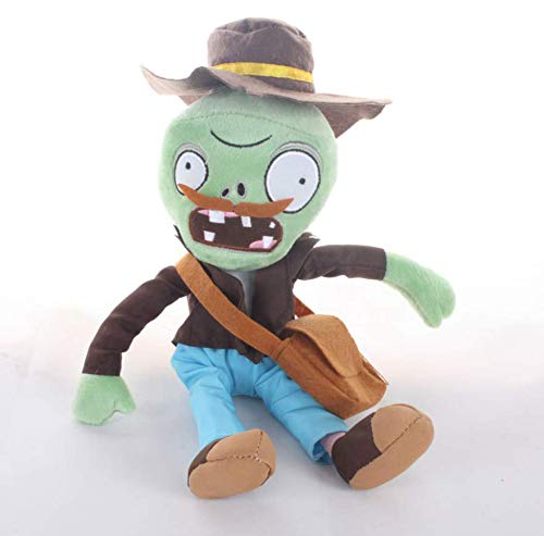 AG Goodies Plants Vs. Zombies Plush Toy - Hunter Zombie Plush Toy Doll Stuffed Soft Game Doll Funny Gift, 11.8 inch -