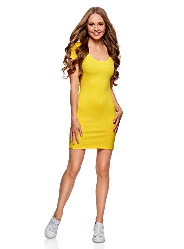 oodji Ultra Mujer Vestido de Punto Pack de 3 Amarillo 5100N 44a2f712119